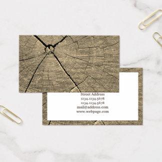 Cartes De Visite Morceau de couverture d'image en bois