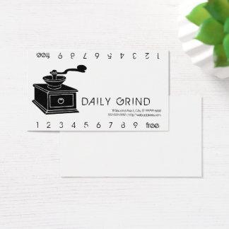 Cartes De Visite Morcellement Punchard de broyeur de café