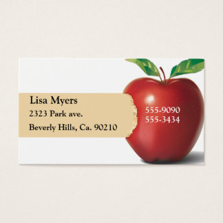 Cartes De Visite Morsure d'Apple