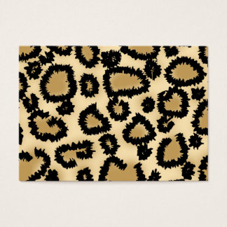 Cartes De Visite Motif, Brown et noir d'empreinte de léopard