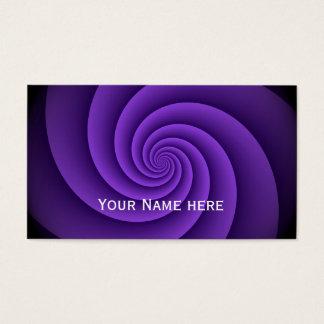 Cartes De Visite Motif de fractale de spirales de puissance -