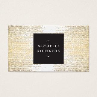 Cartes De Visite Motif de points de confettis d'or de Faux moderne