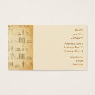 Cartes De Visite Motif d'étagère. Fond vintage de regard de style