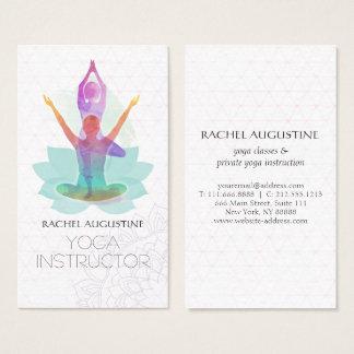 Cartes De Visite Motif élégant de Lotus de méditation de yoga