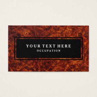 Cartes De Visite Motif en bois de noeud et votre texte