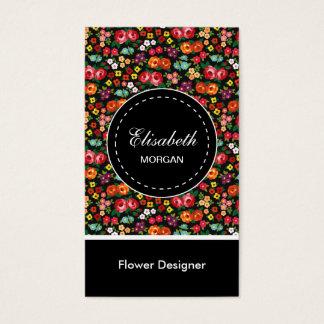 Cartes De Visite Motif floral coloré de concepteur de fleur