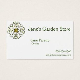 Cartes De Visite motif floral de conception de fleur de vigne -