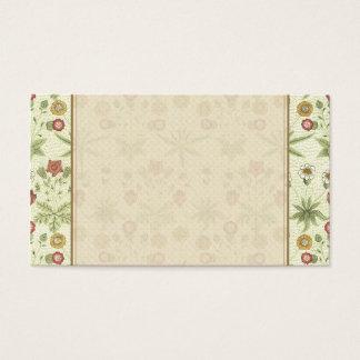 Cartes De Visite Motif floral de pays vintage