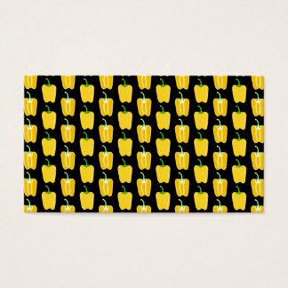 Cartes De Visite Motif jaune de poivrons. Sur le noir