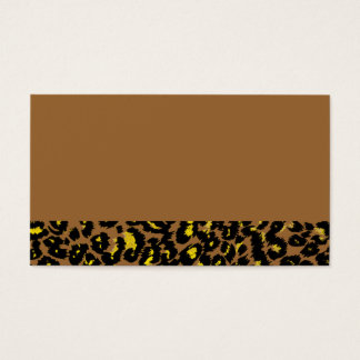 Cartes De Visite Motif jaune de taches de léopard