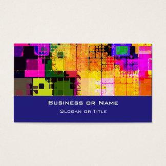 Cartes De Visite Motif multicolore géométrique carré