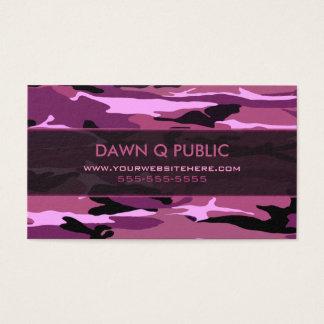 Cartes De Visite Motif rose de Camo
