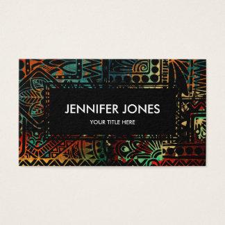 Cartes De Visite Motif tribal coloré
