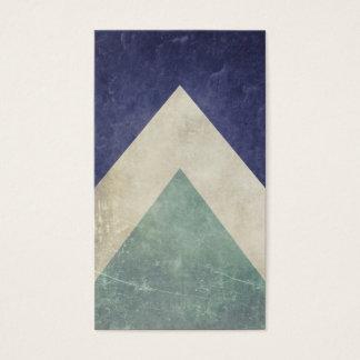Cartes De Visite Motif vintage de triangle