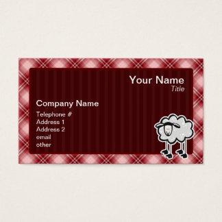 Cartes De Visite Moutons rouges de plaid