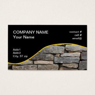 Cartes De Visite mur en pierre empilé
