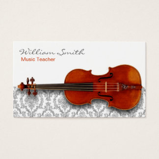 Cartes De Visite Music Teacher