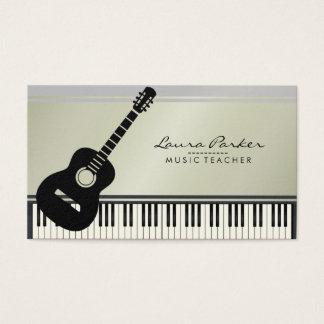 Cartes De Visite Musicien de clavier de piano de guitare de
