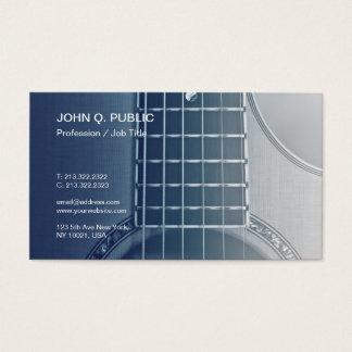 Cartes De Visite Musicien de cours de guitare d'instructeur de