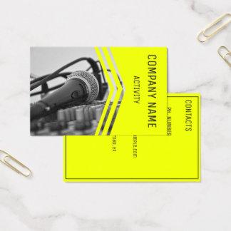 Cartes De Visite Musicien/ingénieur du son/chanteur