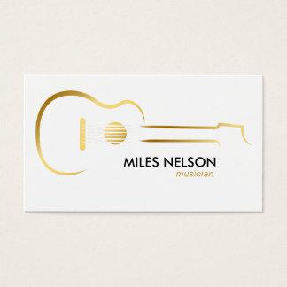 Cartes De Visite Musique moderne d'illustration de logo de guitare