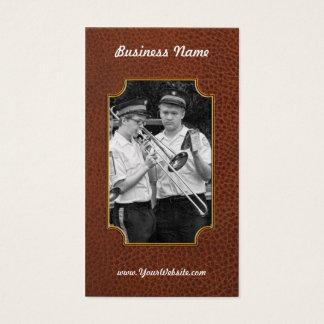 Cartes De Visite Musique - trombone - un coup de main