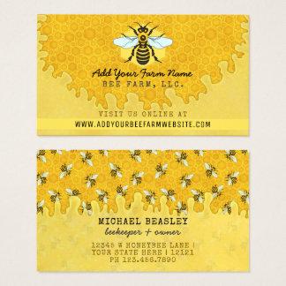 Cartes De Visite Nid d'abeilles d'abeilles de ferme d'abeille