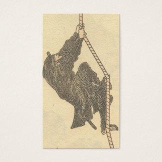 Cartes De Visite Ninja montant une corde circa des 1800s
