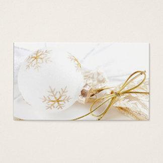 Cartes De Visite Noël ornemente les parties scintillantes blanches