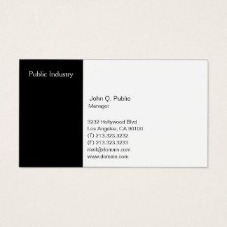 Cartes De Visite Noir et blanc professionnel moderne simple