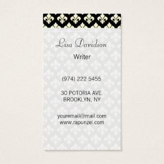 Cartes De Visite Noir et cream fleur de lis