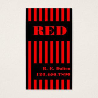 Cartes De Visite Noir et rouge de rayure