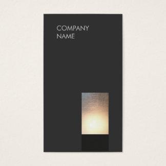 Cartes De Visite Noir moderne frais de minimaliste de lueur de zen
