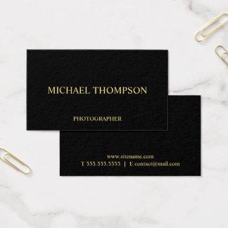 Cartes De Visite Noir professionnel et or