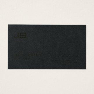 Cartes De Visite Noir profond de la meilleure qualité de monogramme