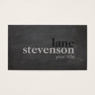 Cartes De Visite Noir rustique de typographie audacieuse simple et