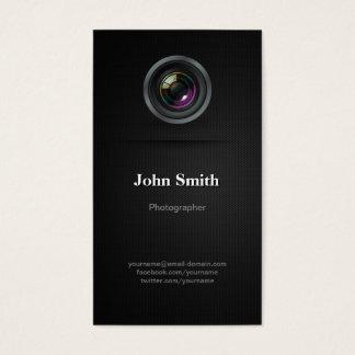 Cartes De Visite Noir simple simple - cinéaste de photographe
