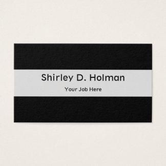 Cartes De Visite Noir solide