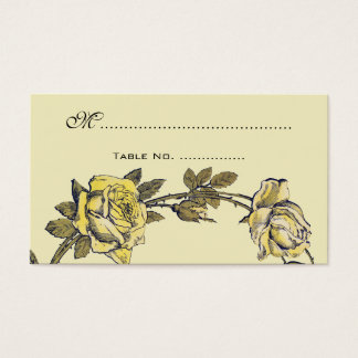 Cartes De Visite Nombres vintages de Tableau de mariage, guirlande