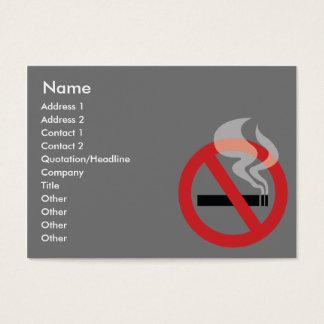 Cartes De Visite Non fumeur - potelé