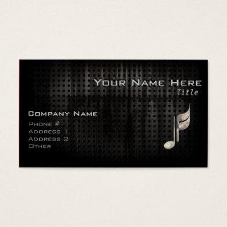 Cartes De Visite Note rocailleuse de musique