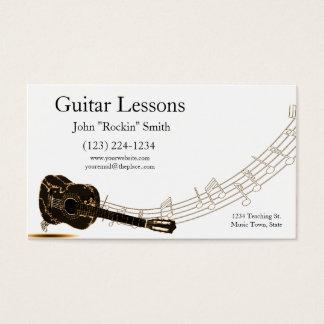 Cartes De Visite Notes de musique de leçons de guitare