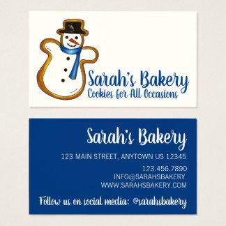 Cartes De Visite Nourriture bleue de chef de pâtisserie de
