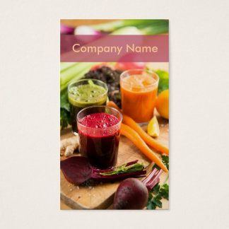 Cartes De Visite Nourriture crue de barre de cocktail de jus frais