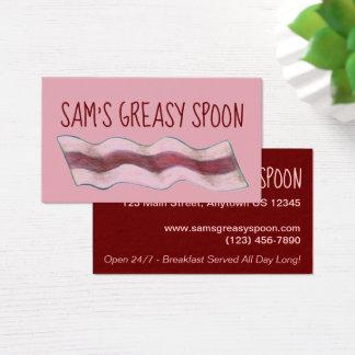 Cartes De Visite Nourriture rose de wagon-restaurant de petit