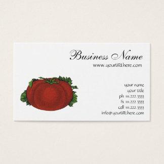 Cartes De Visite Nourritures vintages, tomate mûre, légumes et