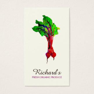 Cartes De Visite Nutritionniste organique de légume de betteraves