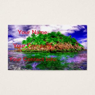 Cartes De Visite Oasis tropicale d'île