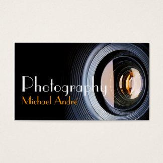 Cartes De Visite Objectif de caméra de photographe de photographie