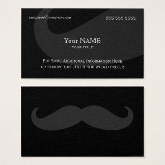 Cartes De Visite Obscurité exécutive de moustache